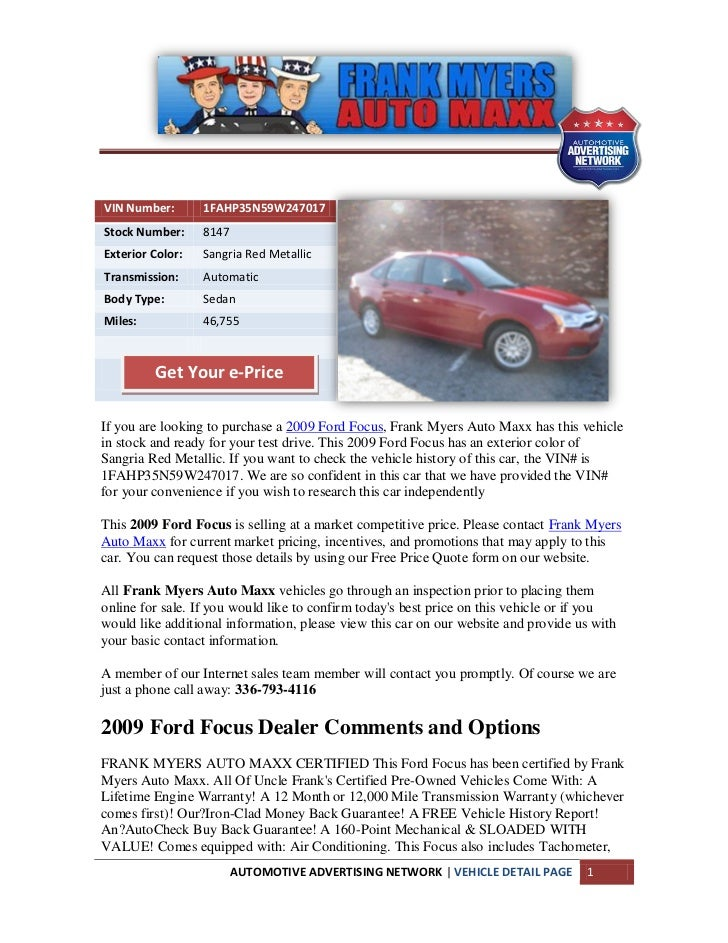 Winston salem ford focus for sale