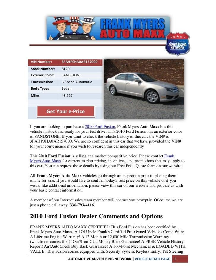 Winston salem ford fusion for sale