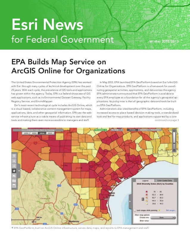 Esri News for Federal Government Winter 2012/2013 issue