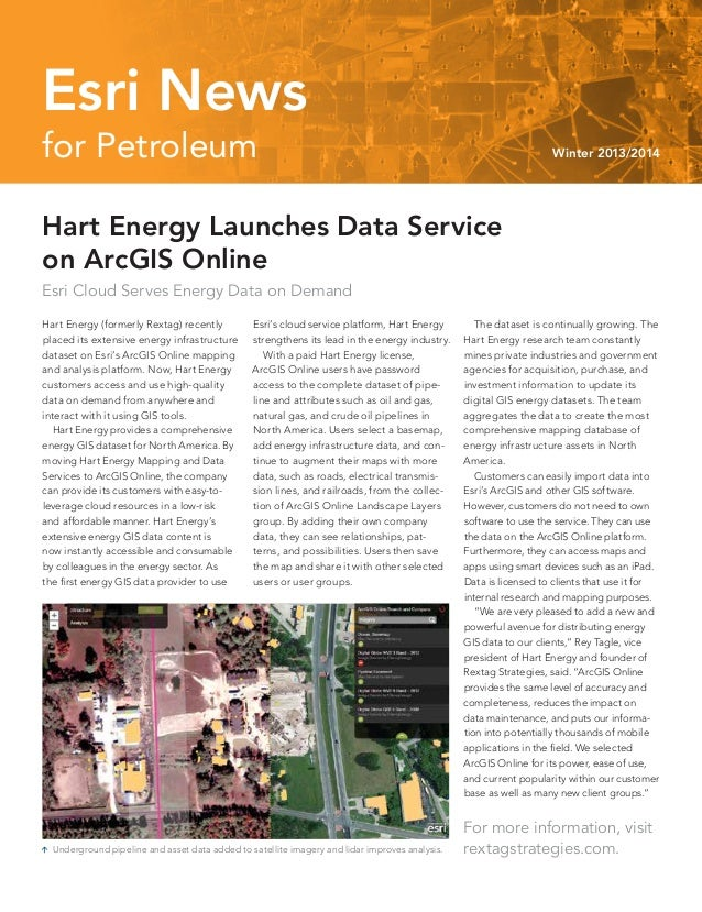 Esri News for Petroleum Winter 2013/2014 newsletter
