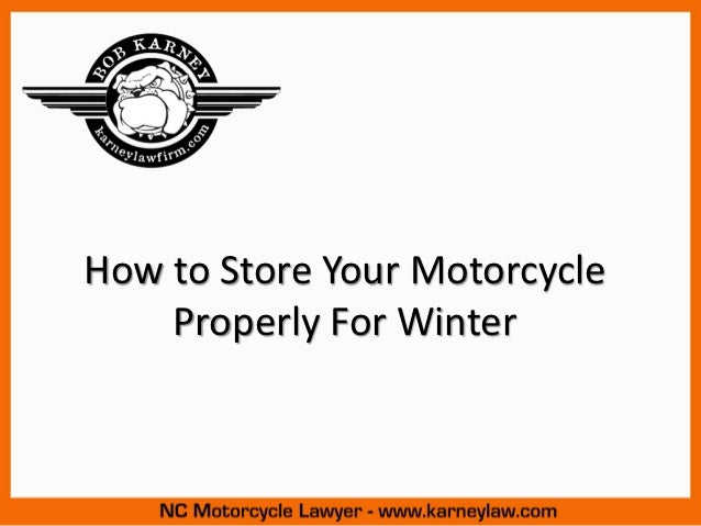 How to Store Your Motorcycle Properly for Winter