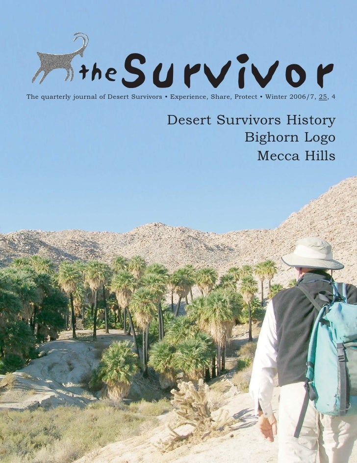 Winter 2006 The Survivior Newsletter ~ Desert Survivors