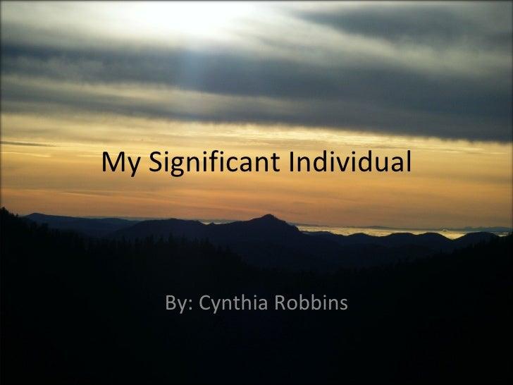 Winter 10 Cindy Robbins  About Tom Robbins  Speech #1