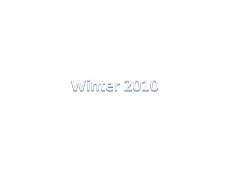 Winter 2010<br />