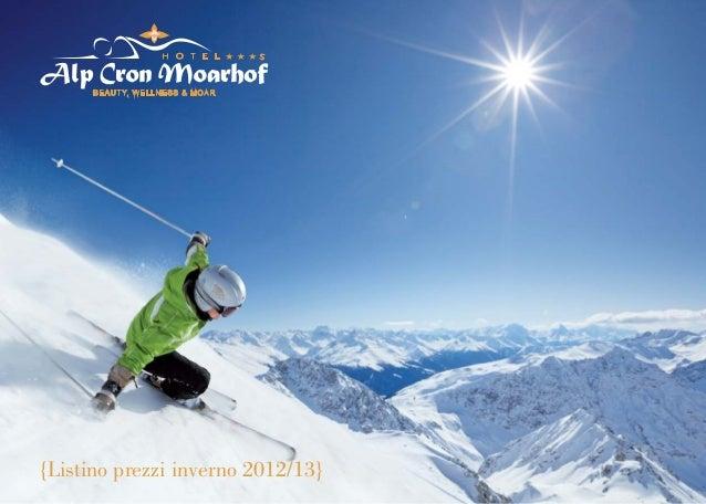 {Listino prezzi inverno 2012/13}