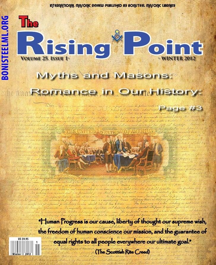 INTERNATIONAL MASONIC REVIEW PUBLISHED BY BONISTEEL MASONIC LIBRARY                      TheBONISTEELML.ORG               ...