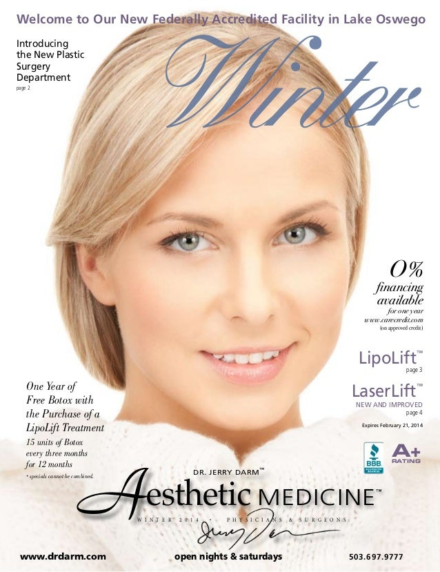 Winter  Welcome to Our New Federally Accredited Facility in Lake Oswego Introducing the New Plastic Surgery Department pag...