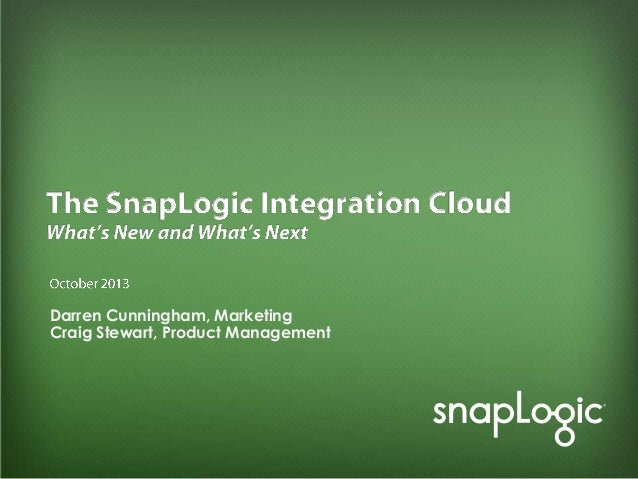 Introducing the SnapLogic Integration Cloud