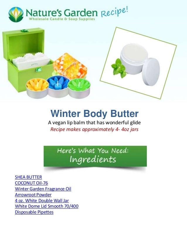 Winter body butter recipe