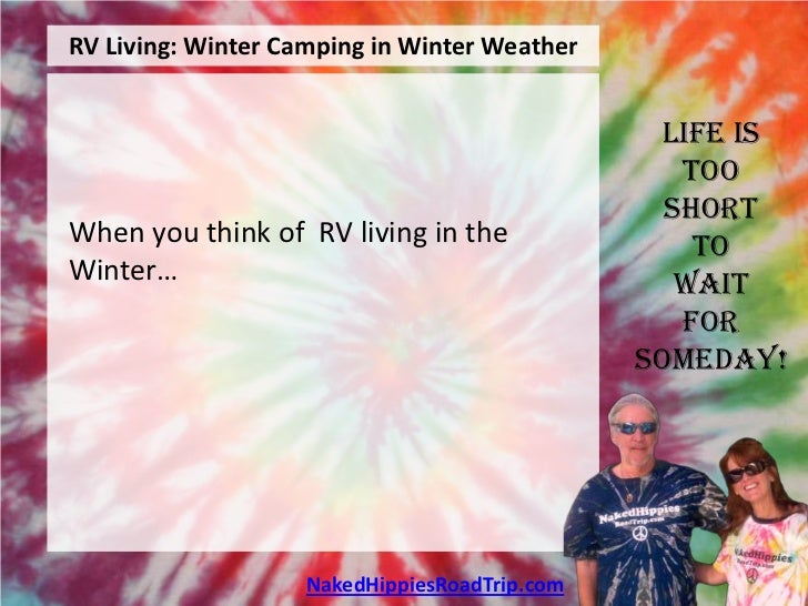RV Living: Winter Camping in Winter Weather                                                Life is                        ...