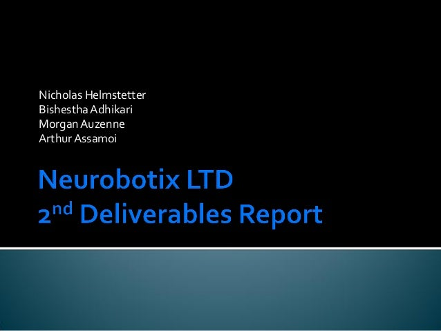 Neurobotix Ltd Winter Deliverable Two