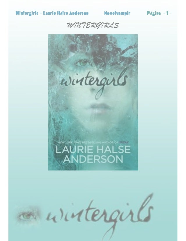 Wintergirls  Laurie Halse Anderson