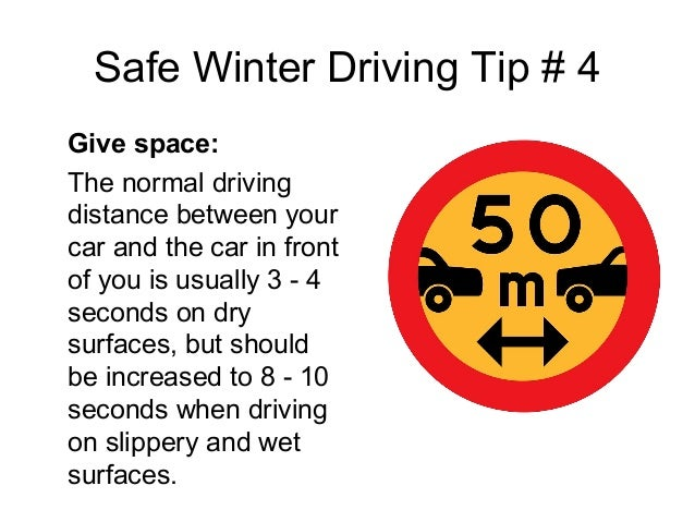 Winter safety driving tips december