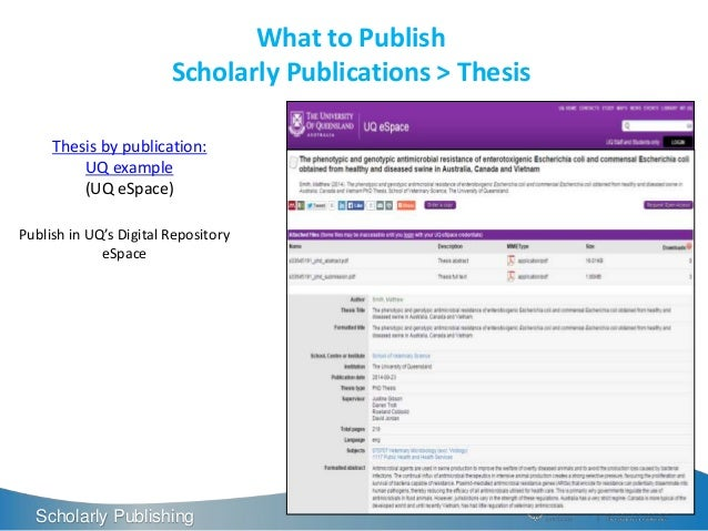 thesis by publication uq These guidelines align with the faculty of hass policy on post-thesis fellowships and with the uq it is important that applicants discuss their publication.