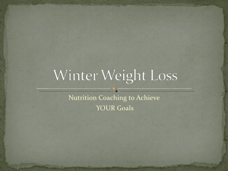Winter Weight Loss Meg Forbes