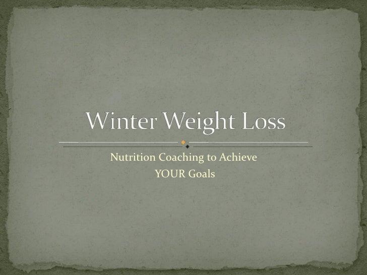 Winter Weight Loss Meg Forbes