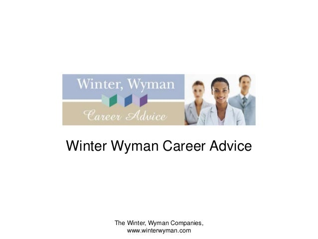 Winter wyman   career advice - bouncing back