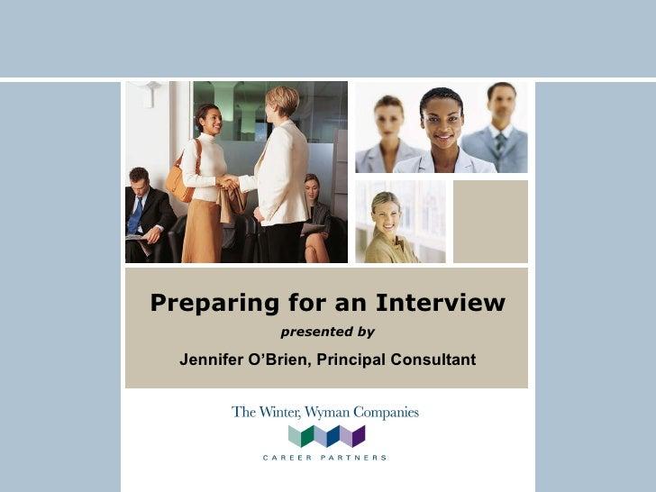 Winter Wyman - Preparing for a Job Interview