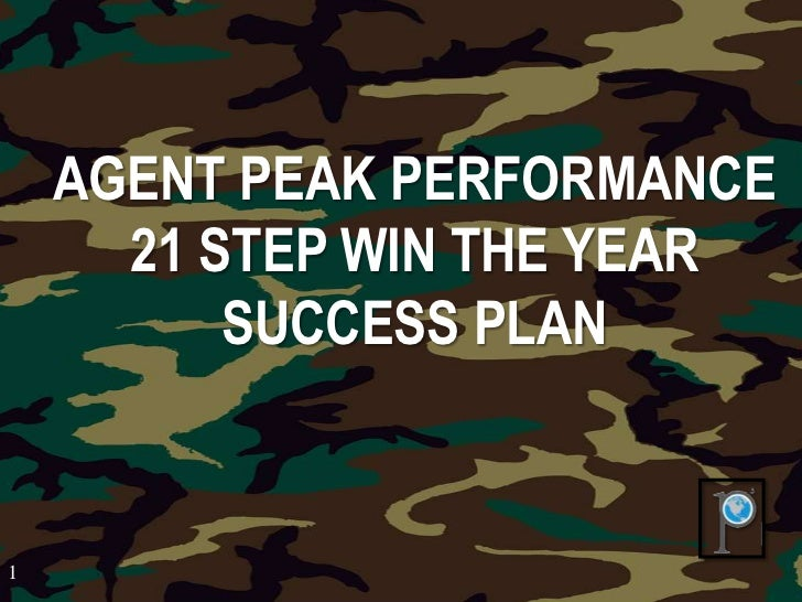 Agent Win The Year Success Formula