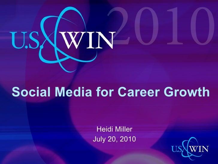 Social Media for Career Growth