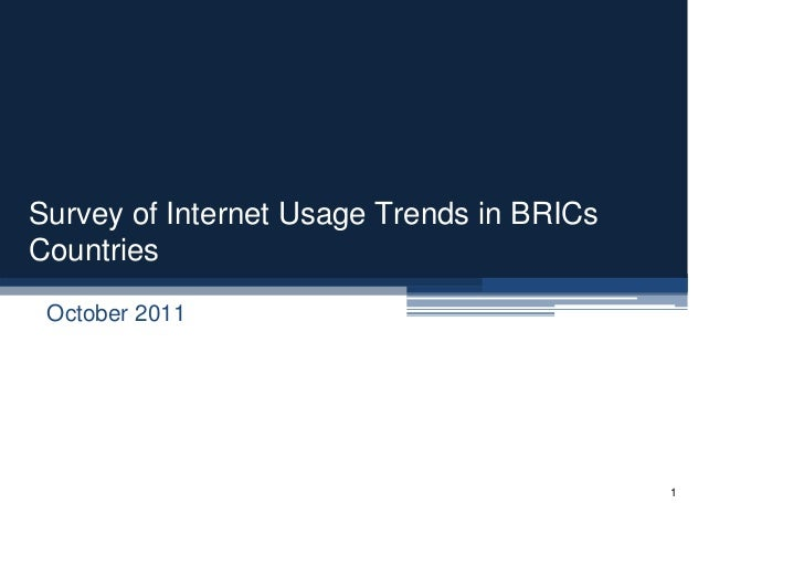 Survey of Internet Usage Trends in BRICS Countries