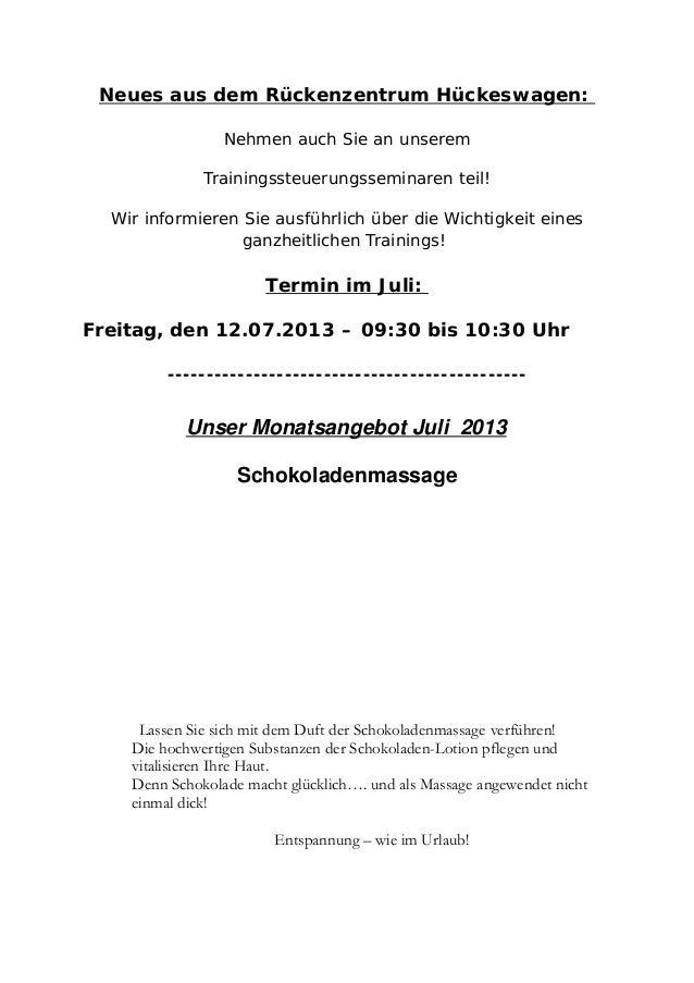 Neues aus dem Rückenzentrum Hückeswagen: Nehmen auch Sie an unserem Trainingssteuerungsseminaren teil! Wir informieren Sie...