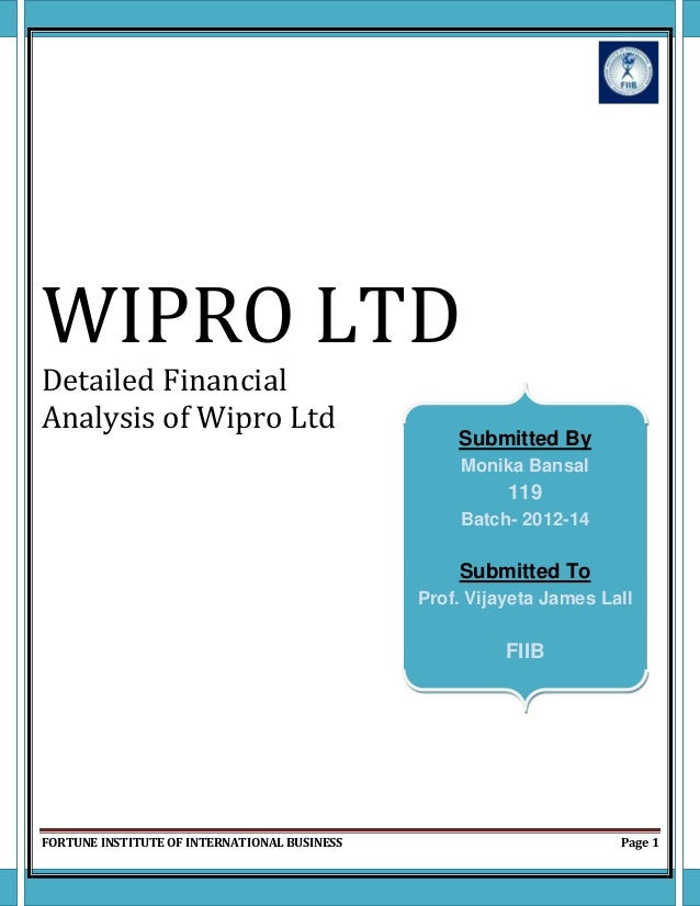 an analysis of wipro company Azim is a business analyst in retail domain consulting practice in wipro my job includes comprehensive analysis of top retail companies and finding various trends and contextualizing wipro solutions and offerings to stay relevant in.