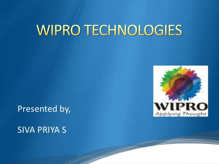financial analysis of wipro technologies Niit technologies investors presentations and analysis investors presentations and analysis - niit technologies this site uses cookies to provide you with a more responsive and personalized service.