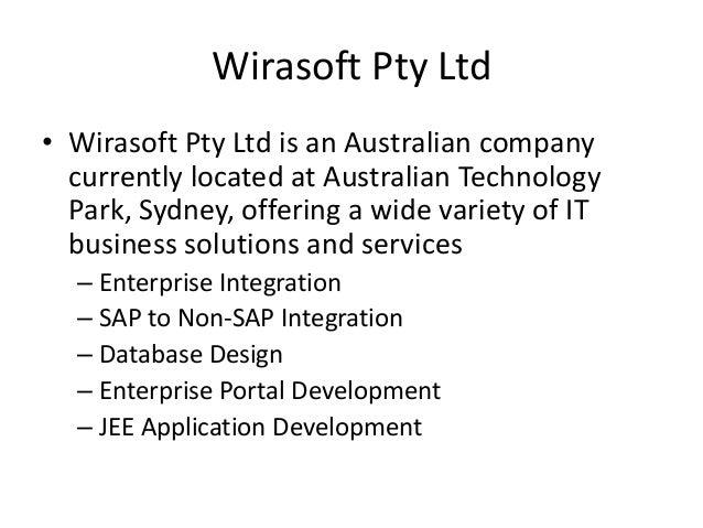 Wirasoft Pty Ltd • Wirasoft Pty Ltd is an Australian company currently located at Australian Technology Park, Sydney, offe...
