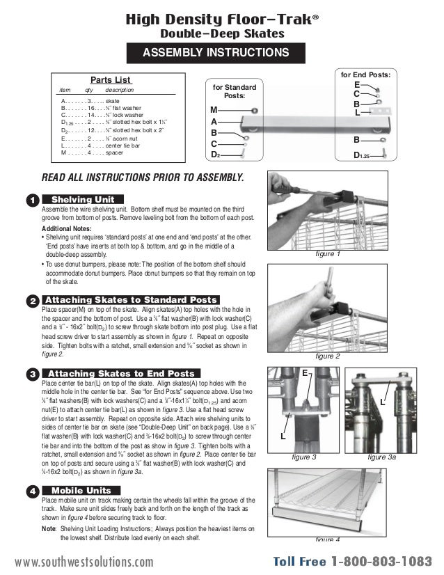 Mobile Wire Shelving Installation Instructions