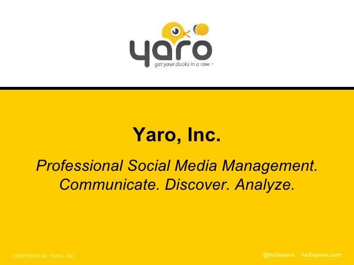 Yaro Wireframes