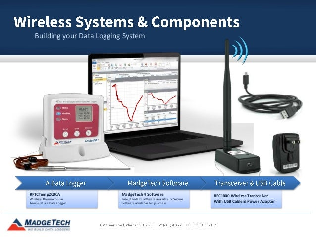 Wireless Data Logger : Madgetech wireless data loggers
