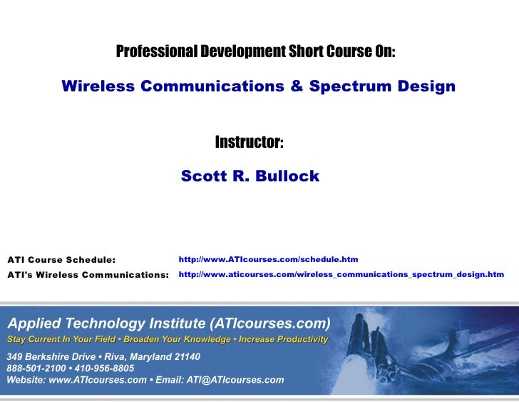 Wireless Communications & Spread Spectrum Design