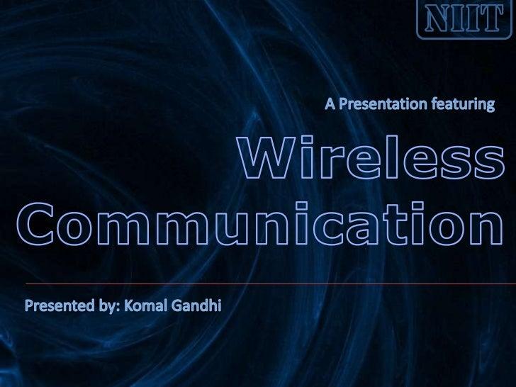 Introduction toWireless Communication