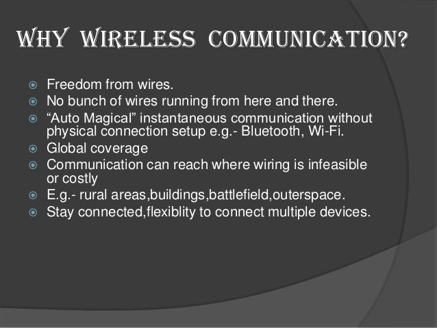 "wireless technologies paper essay Wireless technology paper andrea munoz bis/221 may 23, 2016 john zupan wireless technology paper for this assignment, the article used was titled ""the impact of wireless communication in the workplace."