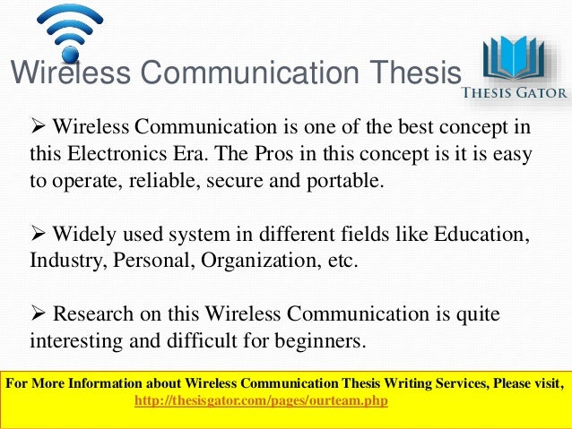 Essay on wireless communication
