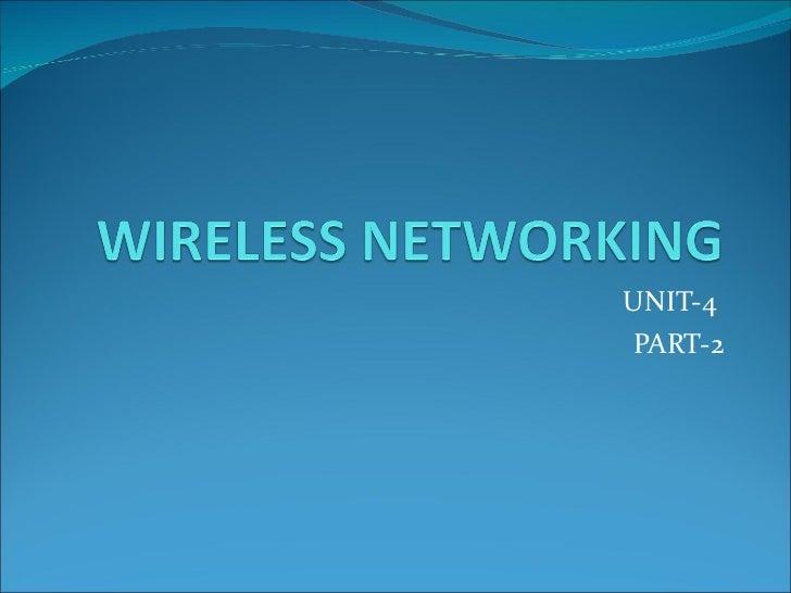 Wireless networking