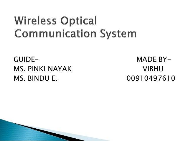 Wireless optical communication system