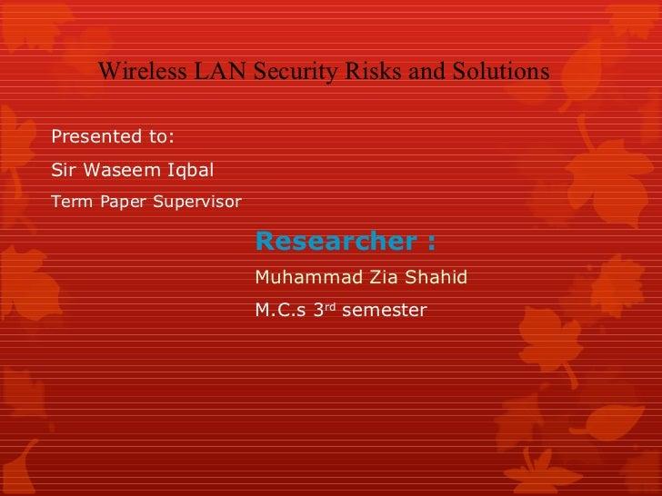 Wireless security presentation