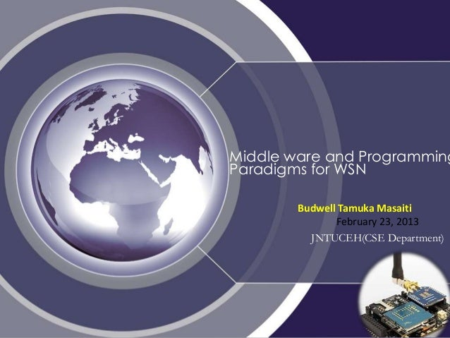 Wireless Sensor Networks ,Middleware and Programming abstractions