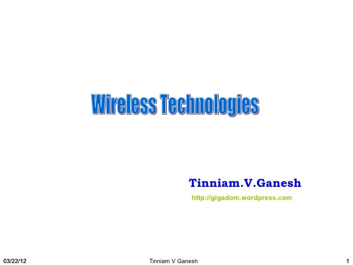 Wireless technologies - Part 2