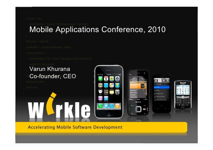 Mobile Apps Conference, New Delhi Aug 28, 2010