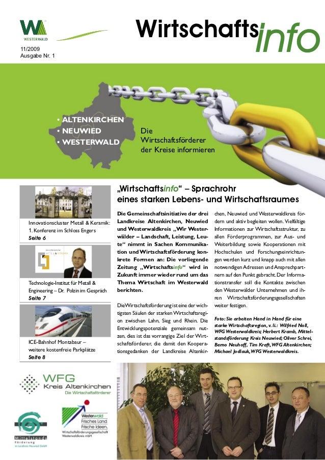 11/2009Ausgabe Nr. 1                                                   Wirtschafts                                        ...