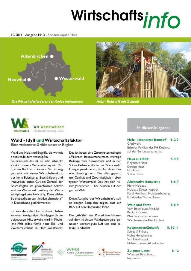 Wirtschafts 10/2011   Ausgabe Nr. 3 - Sonderausgabe Holz                                                                  ...