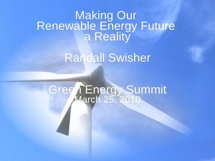 Wisconsin Green Energy Summit Swisher
