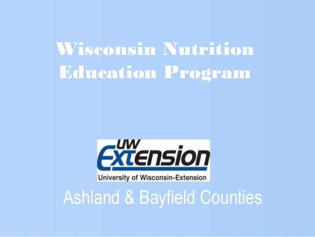 Ashland & Bayfield Counties Wisconsin Nutrition Education Program