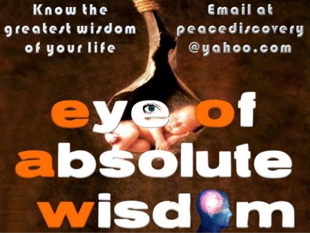 EYE OF ABSOLUTE WISDOM