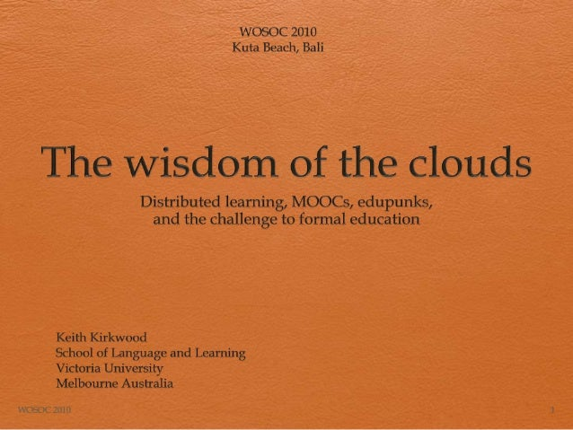 Wisdom of the clouds presentation