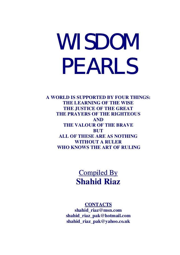 Wisdom pearls