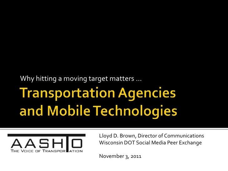 Wireless Communication and State DOTs